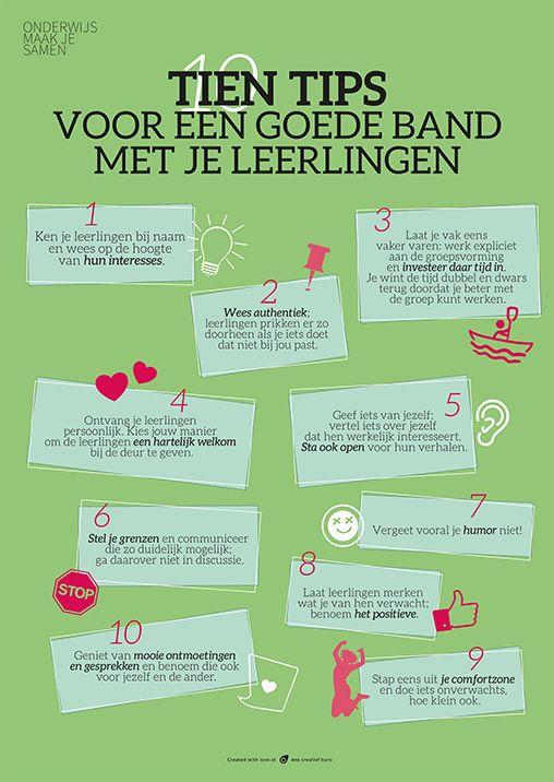 10 tips voor een goede band met je leerlingen