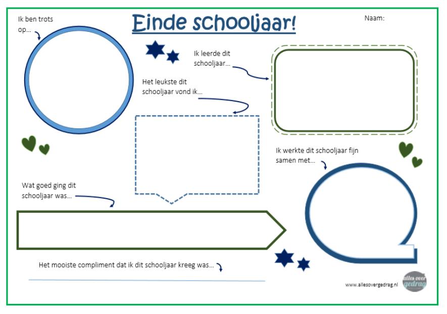 Favoriete Einde van het schooljaar Archieven - Alles over gedrag &PW75